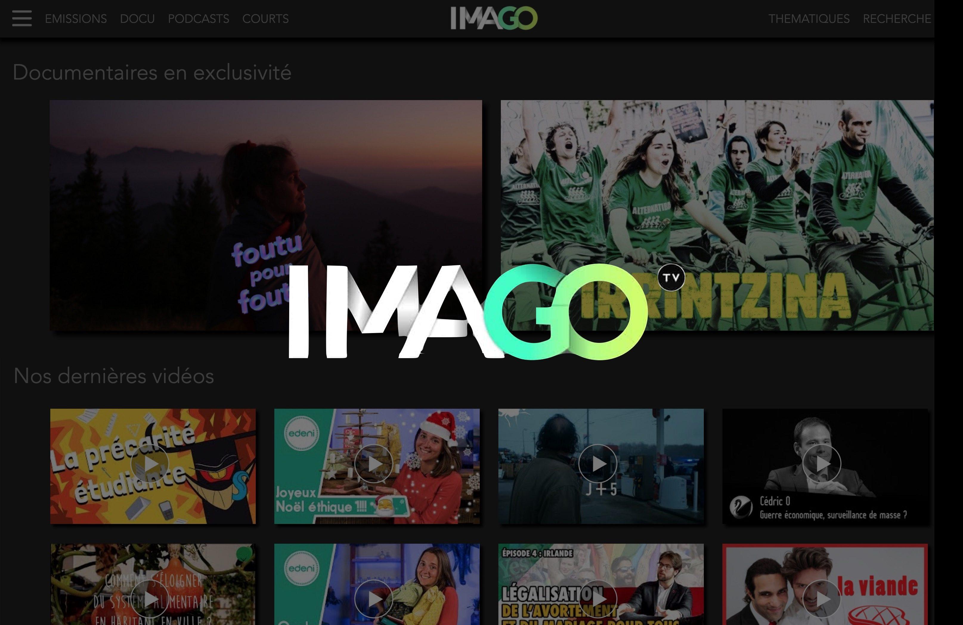 Je regarde des vidéos d'analyse sur Imago TV