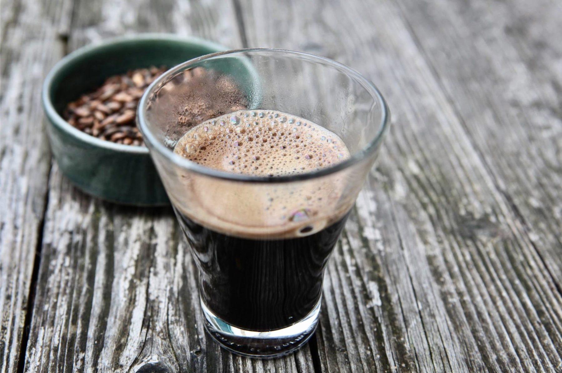 Je bois du café d'orge
