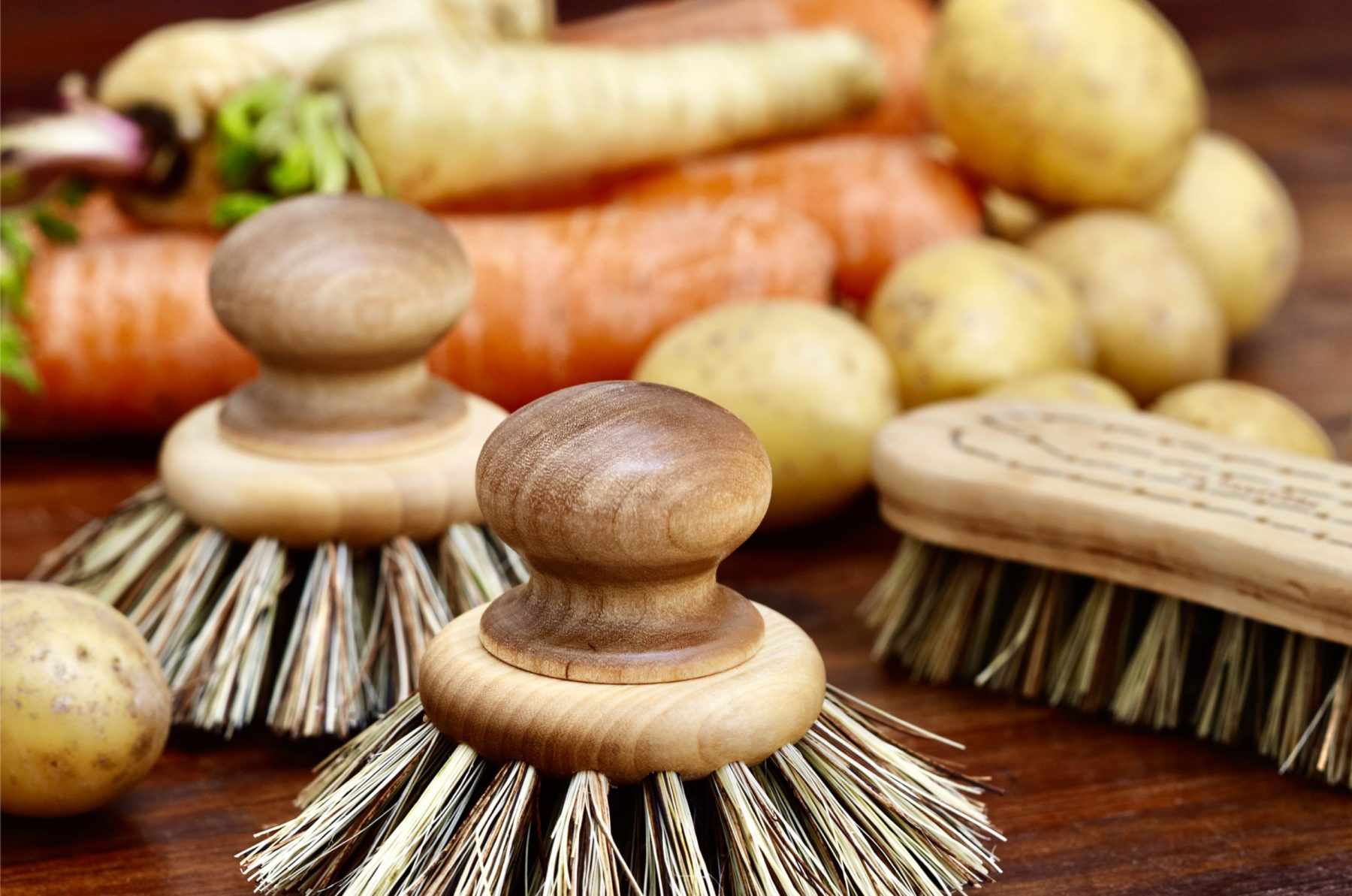 Je brosse mes légumes